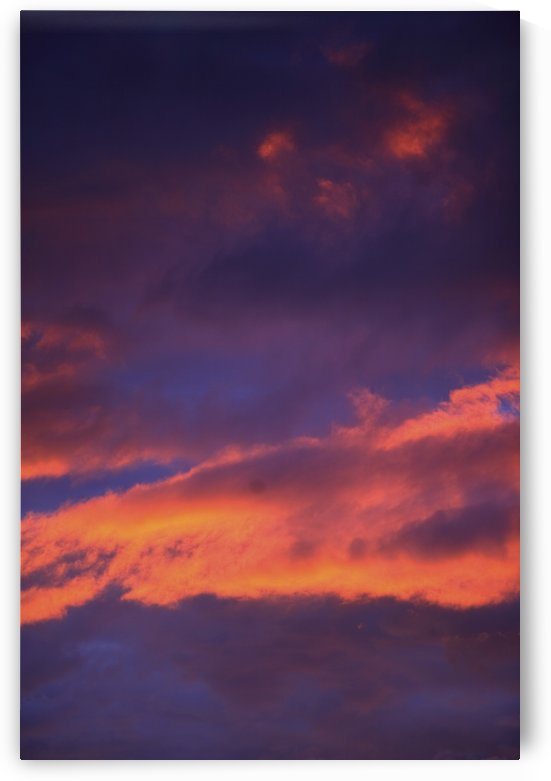 Clouds In Sky With Pink Glow by PacificStock