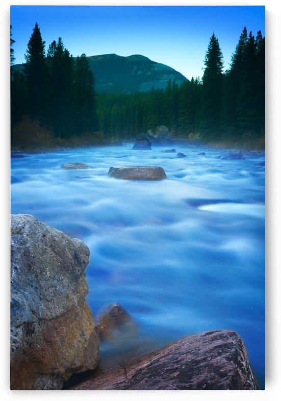 Maligne River Through The Rocky Mountains by PacificStock
