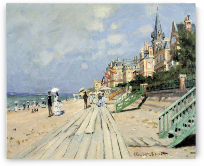 Beach at trouville by Monet by Monet