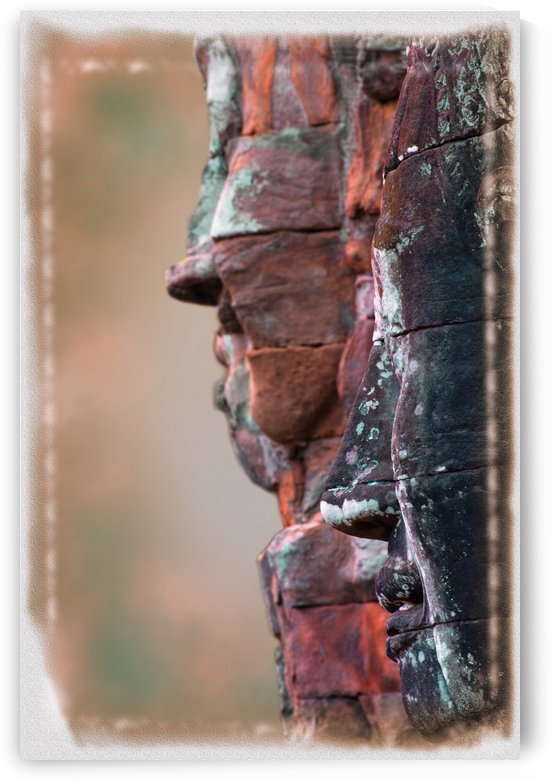 Stone Head At Bayon Temple, Angkor Thom, Siem Reap, Cambodia by PacificStock