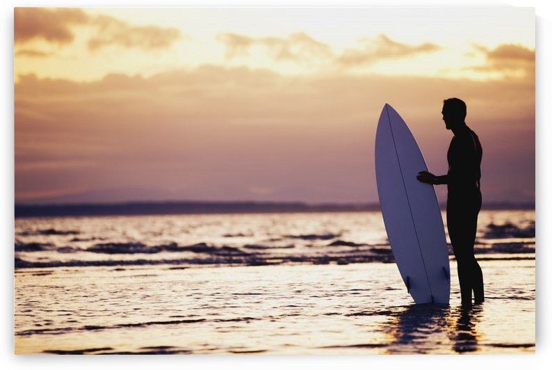 Surfer Silhouette by PacificStock