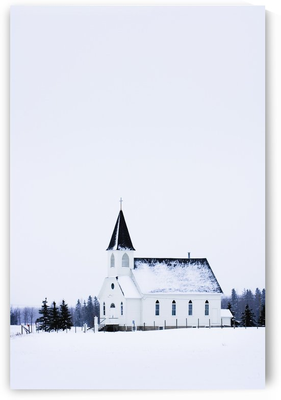 Old Fashioned Steeple Church In Winter by PacificStock