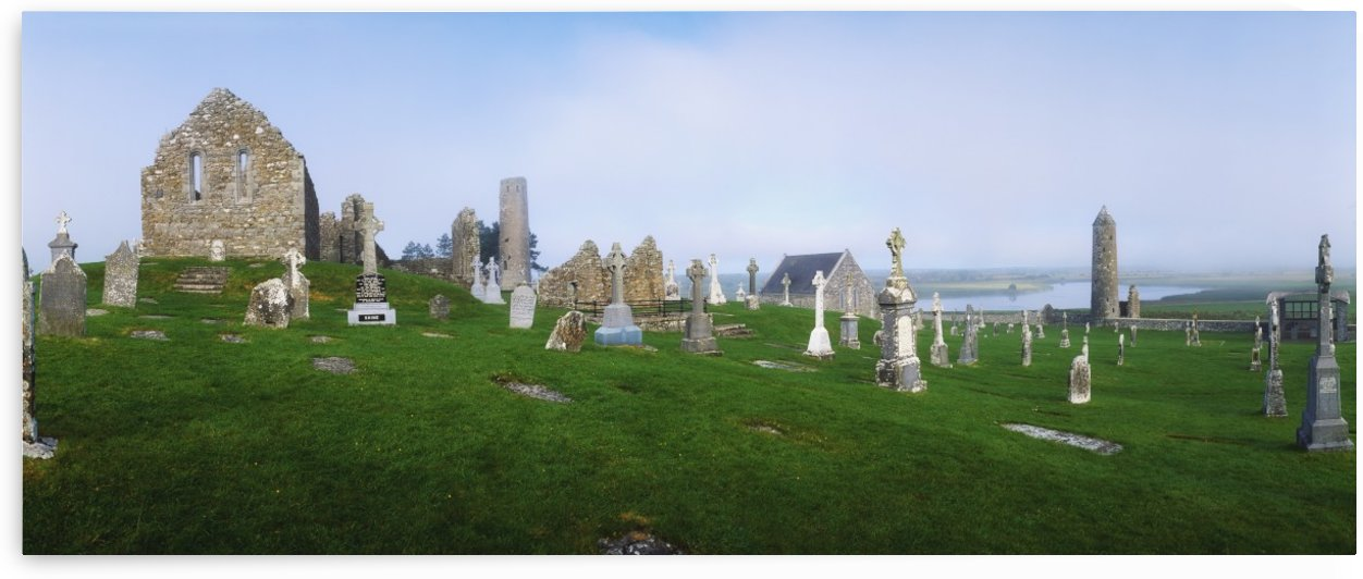 Clonmacnoise Monastery, County Offaly, Ireland, 6Th Century by PacificStock