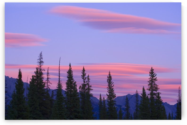 Sunset And Clouds, Banff National Park, Alberta, Canada by PacificStock
