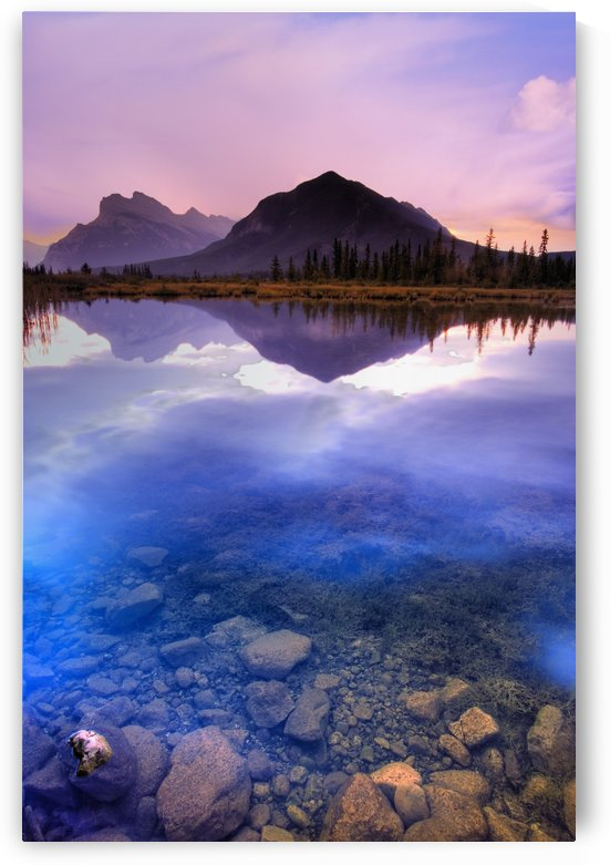 Vermilion Lakes, Mount Rundle, Banff National Park, Alberta, Canada by PacificStock
