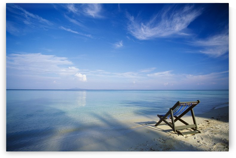Chair On Tropical Beach In Ko Phi Phi Don Island, Thailand by PacificStock