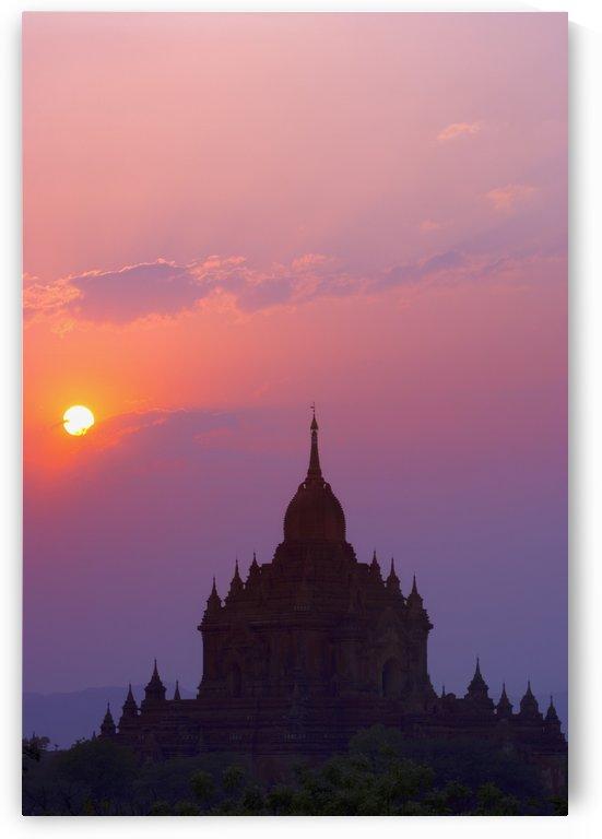 Sunrise Over Stupa Temple In Bagan, Myanmar, Burma by PacificStock
