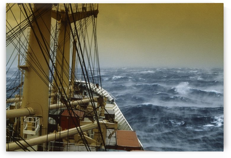Shipping, Freight In Storm; Ireland by PacificStock