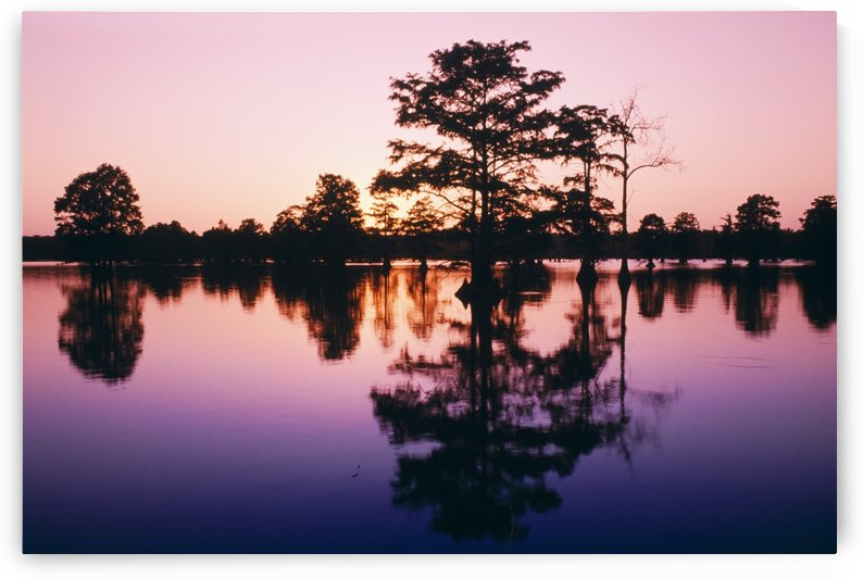 Horseshoe Lake At Dusk by PacificStock