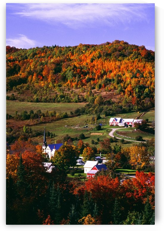 East Orange Village In Fall, Vermont, New England, U.S.A. by PacificStock