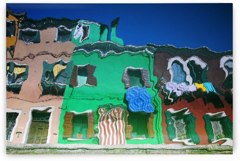 Reflections Of Burano Housing, Italy by PacificStock