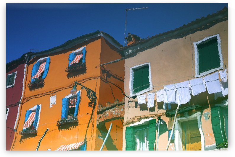 Reflections In Water Of Burano, Italy by PacificStock