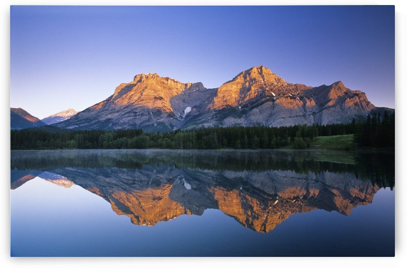Mount Kidd, Wedge Pond, Kananaskis Country, Alberta, Canada by PacificStock
