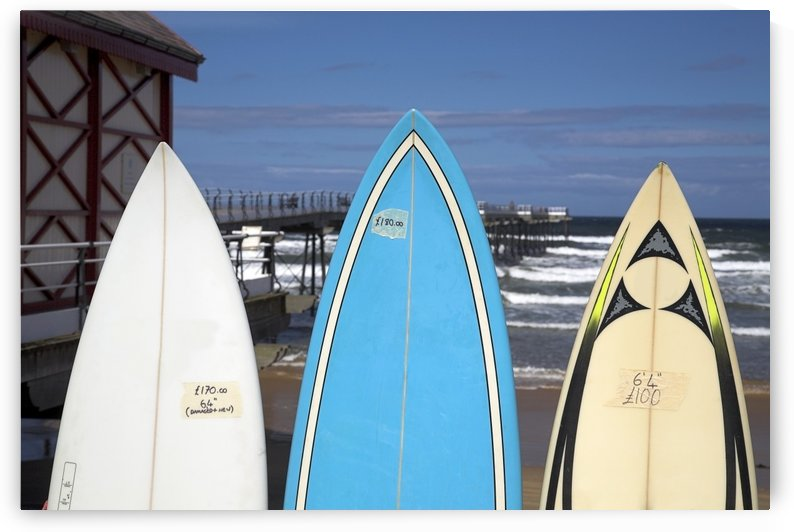 Surfboards For Sale, Saltburn, England by PacificStock