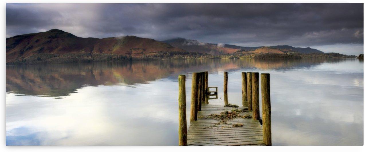 Lake Derwent Pier, Cumbria, England by PacificStock