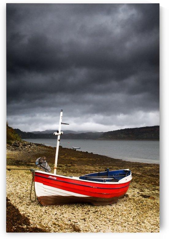 Boat On Shore, Lochaline, Scotland by PacificStock