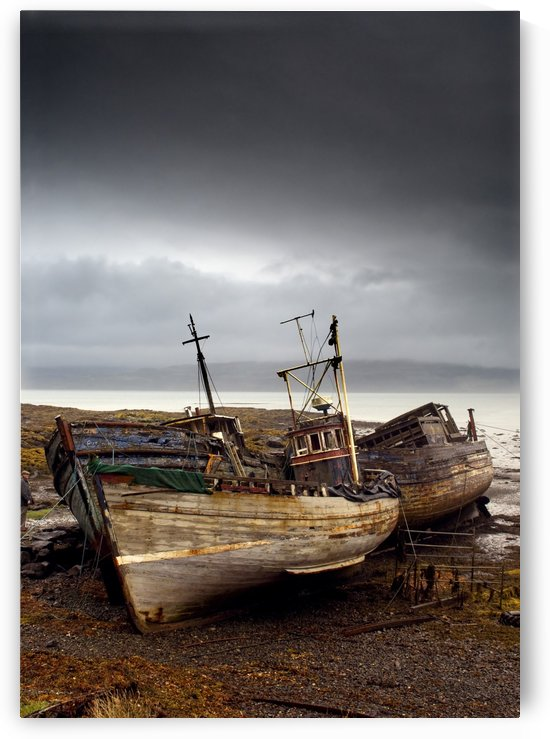 Three Boats On Shore, Island Of Mull, Scotland by PacificStock