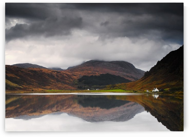 Mirror Image Of Land In The Water, Loch Sunart, Scotland by PacificStock