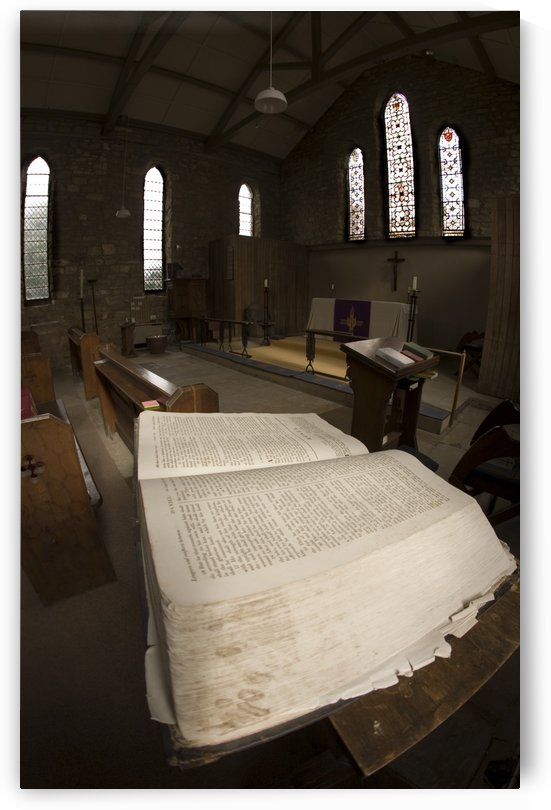 Closeup Of A Bible Inside A Church, Yorkshire, England by PacificStock