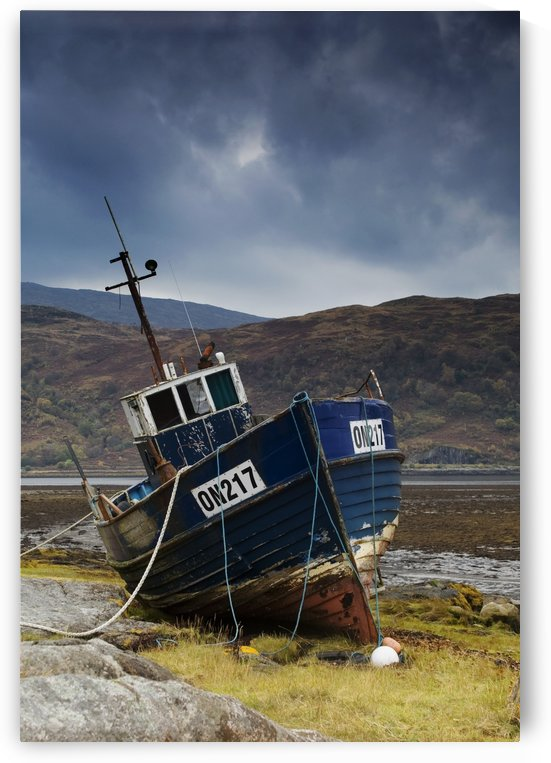 Shipwrecked Boat In Loch Sunart, Scotland by PacificStock