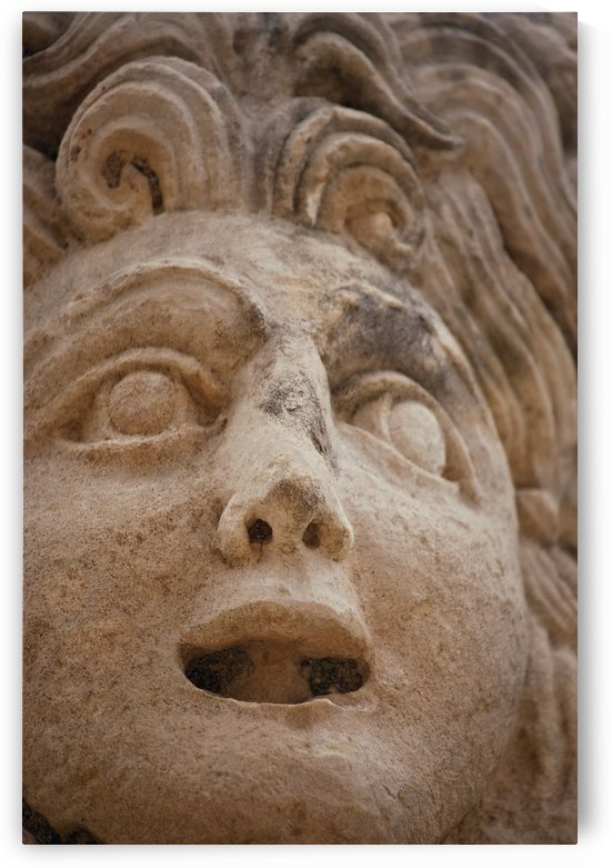 Theatrical Mask, Myra (Demre), Turkey by PacificStock