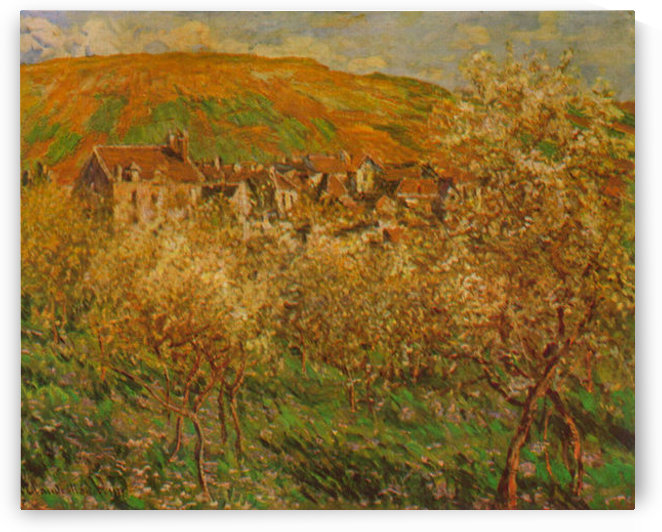 Blooming apple trees by Monet by Monet