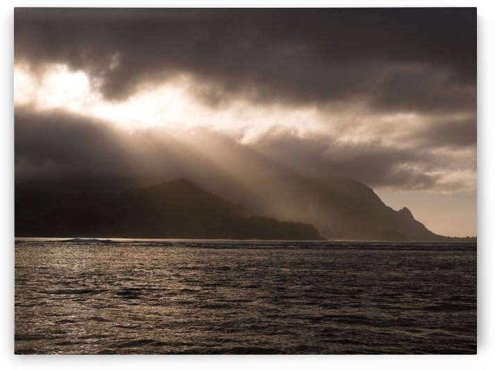 Storm Clouds, Hanalei Bay, Kauai, Hawaii by PacificStock