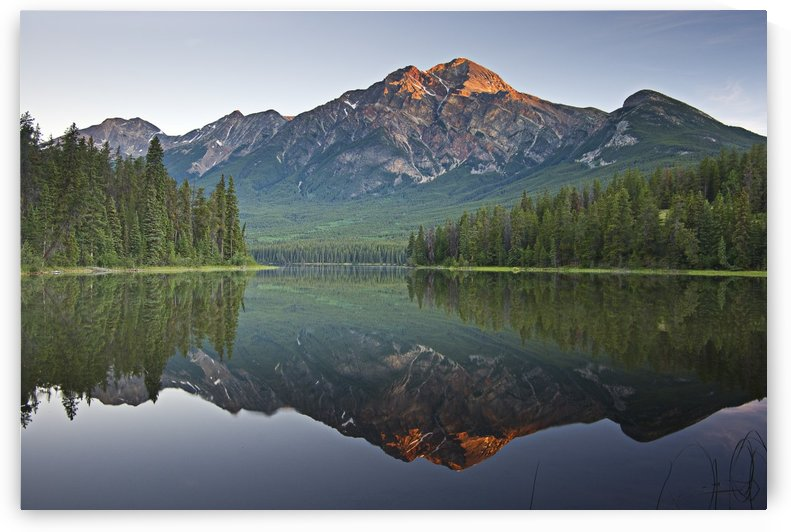 Mountain Reflection, Pyramid Mountain, Jasper, Alberta, Canada by PacificStock
