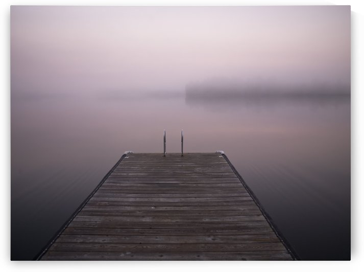 Lake Of The Woods, Ontario, Canada, A Dock On The Water by PacificStock