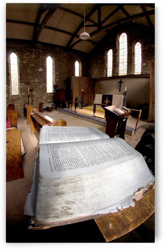 Bible In Church by PacificStock