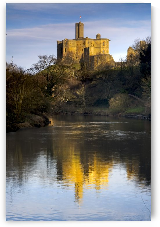Church Reflection In Water, Warkworth, Northumberland, England by PacificStock