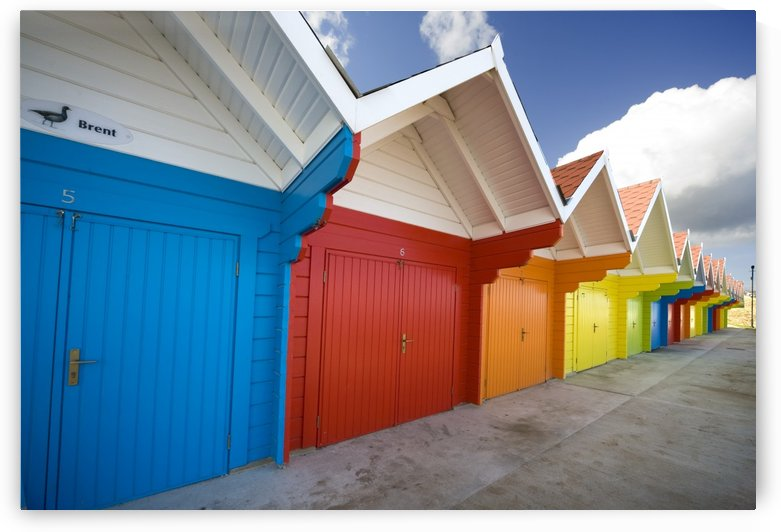 Colorful Beach Huts, Scarborough, England, Europe by PacificStock