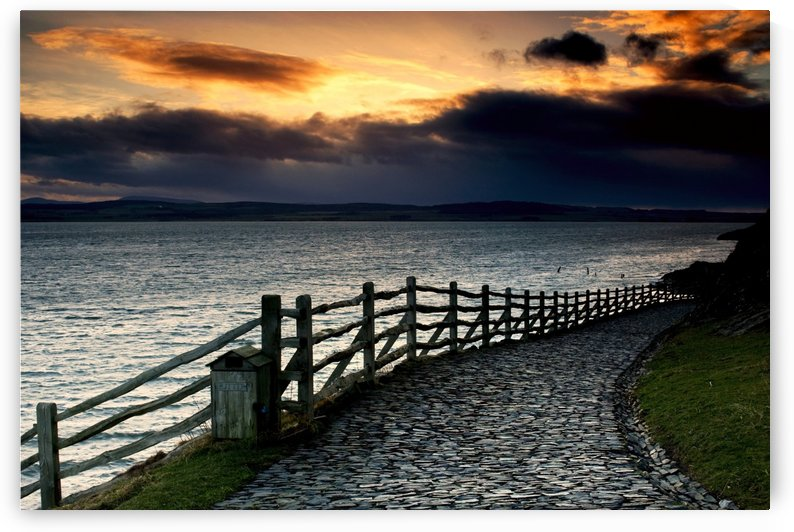 Path Along The Water, Holy Island, Berwick, Northumberland, England by PacificStock