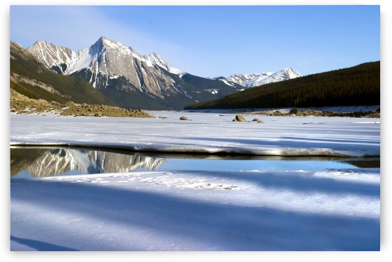 Medicine Lake, Jasper National Park, Alberta, Canada by PacificStock