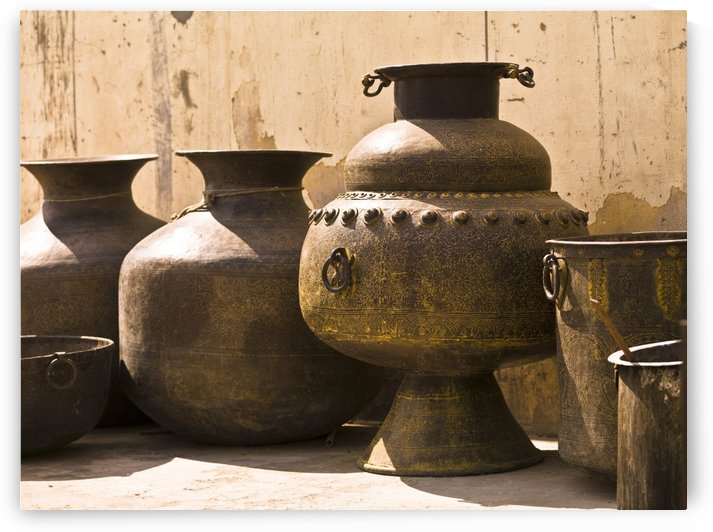 Hand Crafted Jugs, Jaipur, India by PacificStock
