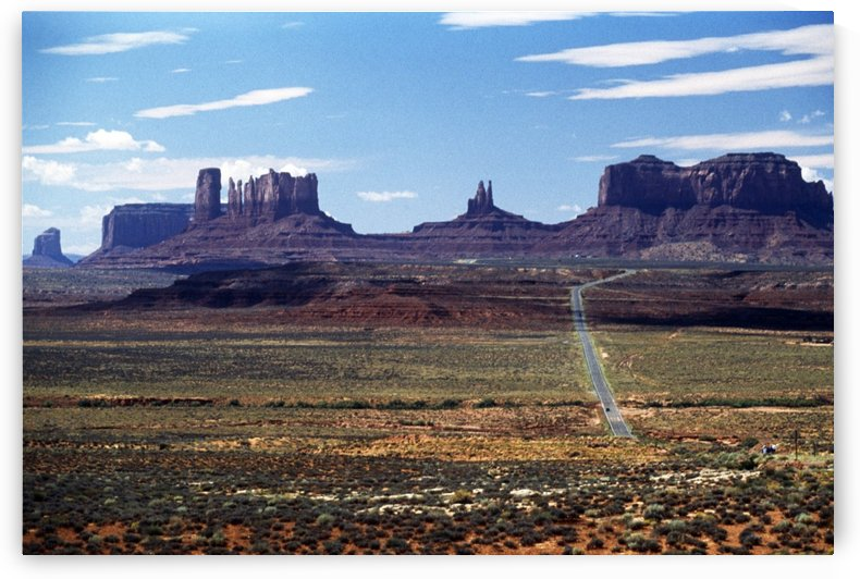 Utah, Usa; Highway And Rock Formations In The Desert by PacificStock
