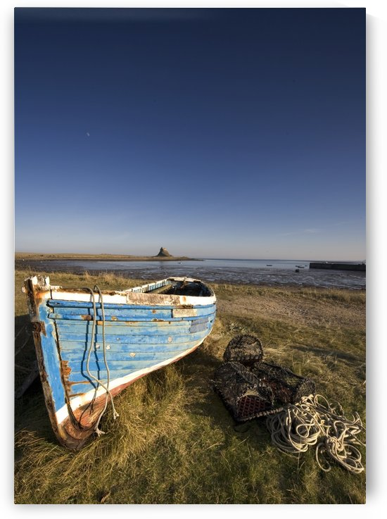 Weathered Fishing Boat On Shore, Holy Island, Bewick, England by PacificStock