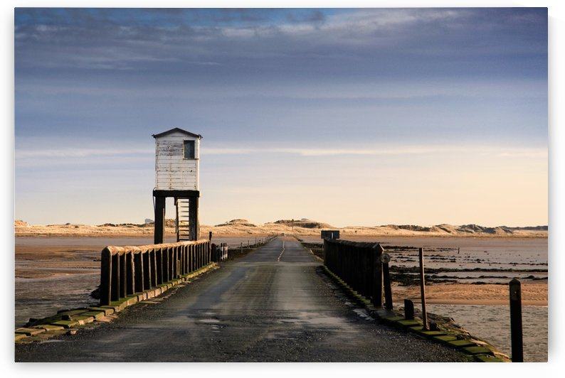 Look-Out Tower By Bridge, Holy Island, Bewick, England by PacificStock