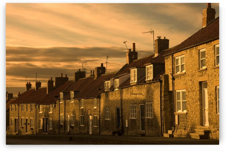 Houses At Dusk, Thaornton Le Dale, Yorkshire, England by PacificStock