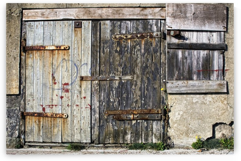 Old Wooden Door Of Building by PacificStock