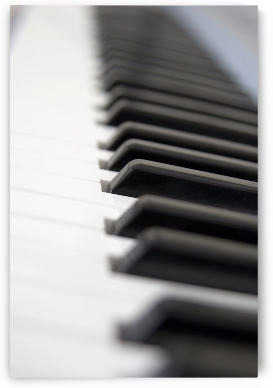 Close Up Of Piano Keyboard by PacificStock