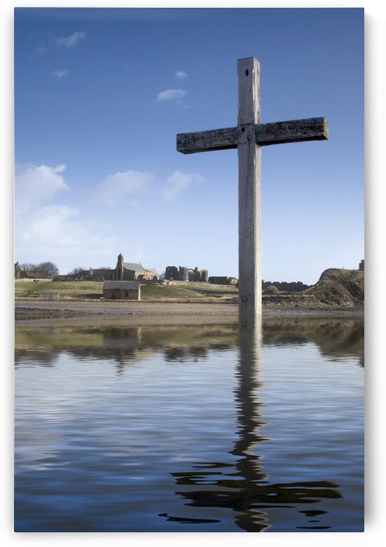 Cross In Water, Bewick, England by PacificStock