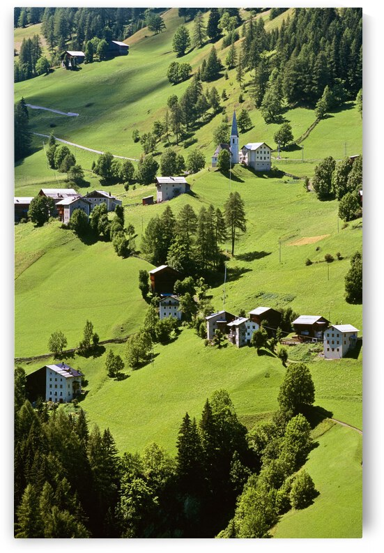 Mountain Village In Dolomites, Italy by PacificStock