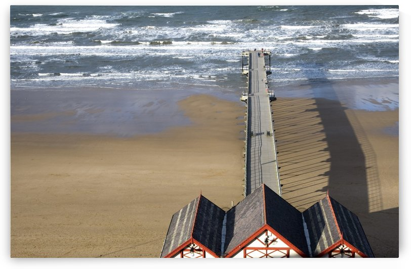 Pier On Beach, Saltburn, North Yorkshire, England by PacificStock