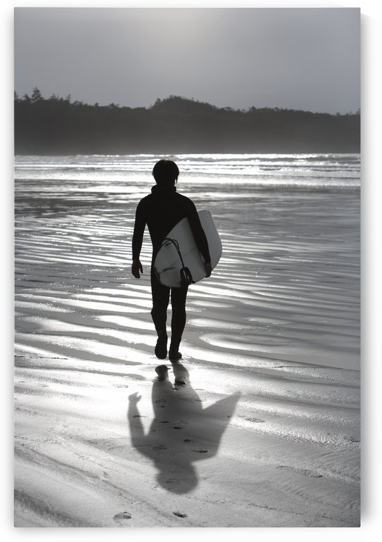 Cox Bay, Tofino, British Columbia, Canada; Surfer Walking On The Beach by PacificStock