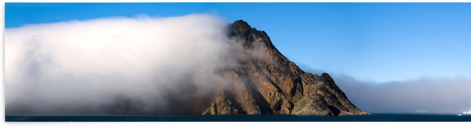 Cloud Covering A Mountain, Greenland by PacificStock