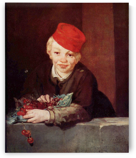 Boy with the cherries by Manet by Manet