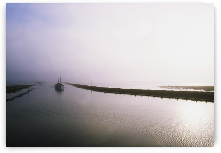 Sailboat On A Misty Morning; Killala, County Mayo, Ireland by PacificStock