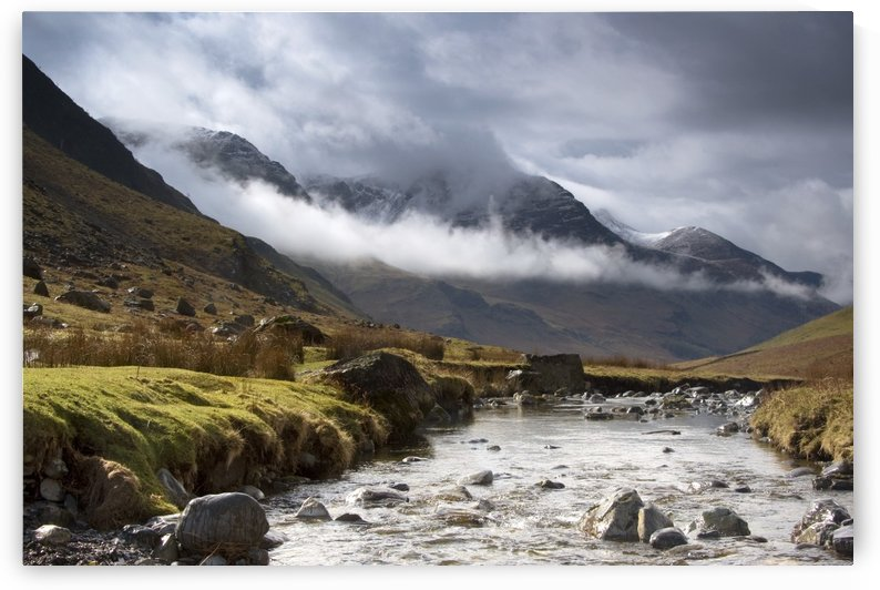 Mountains And River, Lake District, Cumbria, England, United Kingdom by PacificStock
