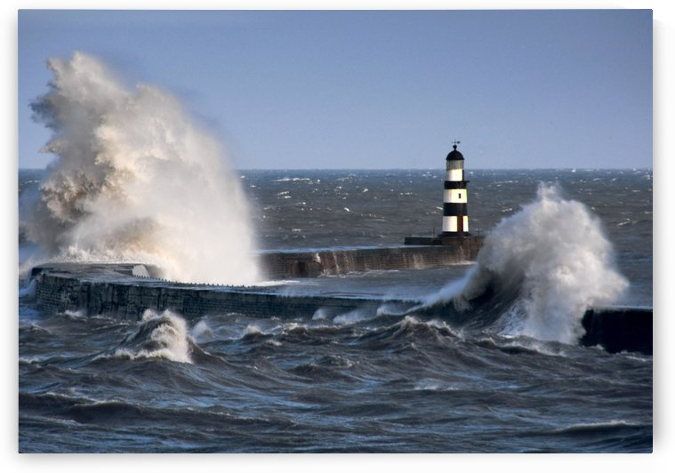 Lighthouse, Seaham, England by PacificStock